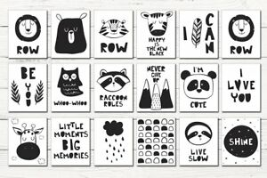 Image Is Loading Nursery Print Baby Room Decor Pictures Monochrome Animals
