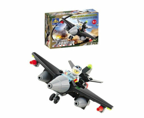Building blocks toys Blackhawk bombers to fight aircraft fighter 6312
