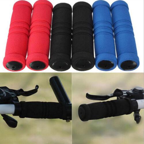 BMX MTB Bike Mountain Bicycle Handle Handlebar Soft Rubber Bar End Grips L