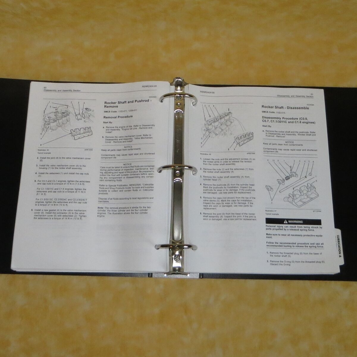 RENR2420 OEM CAT 3011c 3013c 3024c Engine Factory Service Repair Shop Manual