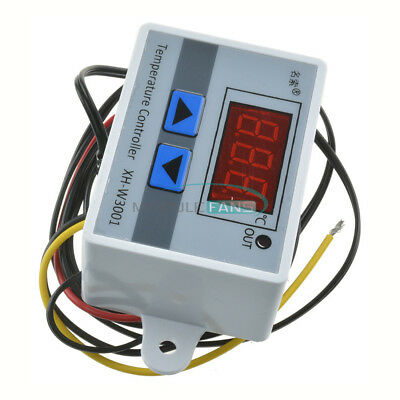 DC12V 10A LED Digital Temperature Controller Thermostat Control Switch Probe