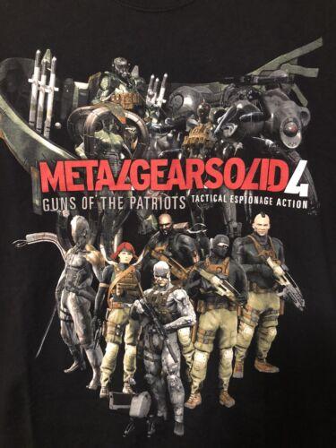 Vintage Metal Gear Solid 4 Video Game Promo Shirt