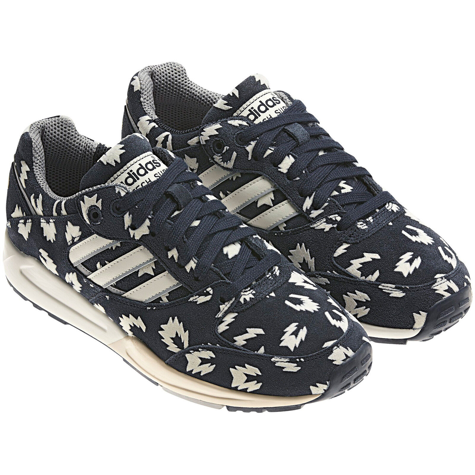 ADIDAS UK ORIGINALS TECH SUPER WOMENS TRAINERS NAVY BLUE SUEDE UK ADIDAS SIZE 4 - 8 5f1488