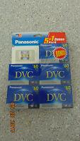 5 Panasonic Dvc Digital Video Cassette Ay-dvm60ej6b Mini Dv Sp 60min Lp 90mi