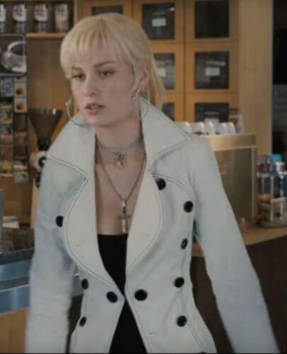 Brie Larson Envy Adams Scott Pilgrim vs the World White overcoat
