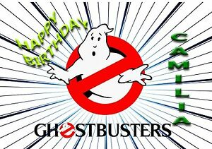 Image Is Loading Ghostbusters Personalised Birthday Greeting Card A5 Friend Son