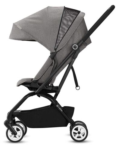 Cybex Eezy S Twist Ultra Compact Baby Stroller with Rotating Seat Manhattan Grey