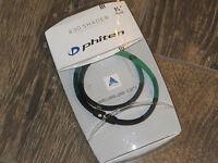 Phiten X30 Shader Titanium Necklace - Green/black - 18