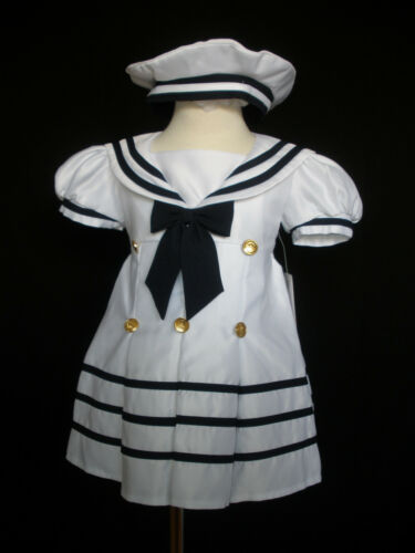 4 years D1 New Baby Girl Sailor Nautical Cruise Party Dress Outfits New born