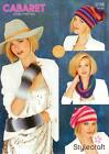Stylecraft 9186 Knitting Pattern Ladies Snood Beret Hat & Mittens in Cabaret DK