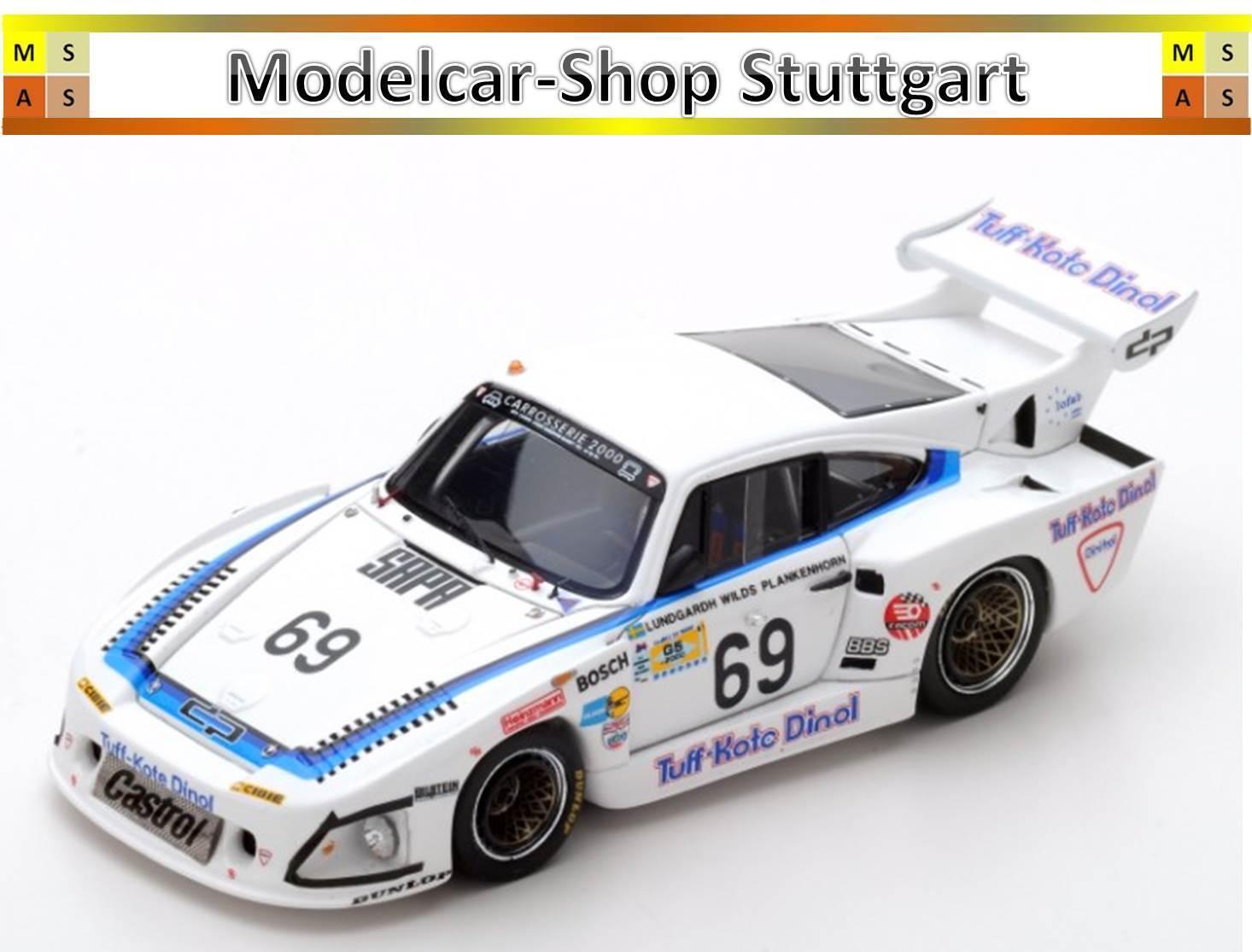 Porsche 935 L1 Le Mans 1981 - lundgardh - Wilds - Plankenhorn - Spark 1 43