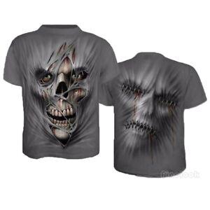 Men-Funny-Skull-3D-Print-Casual-T-Shirt-Fashion-Crew-Neck-Short-Sleeve-Tops-Tee