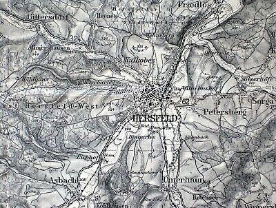435 Hersfeld, Karte Des Deutschen Reiches, 1:100.000, Gedruckt 1937 Online Shop