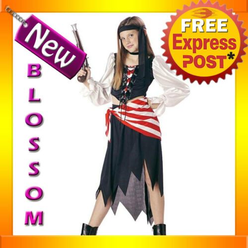 CK62 Ruby The Pirate Beauty Girls Child Halloween Fancy Dress Up Party Costume