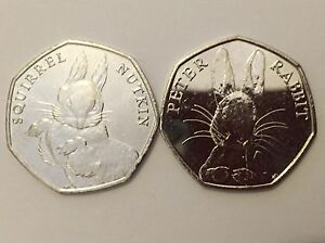 SQUIRREL NUTKIN amp PETER RABBIT  2 x NEW 50ps  UC  RARE  Lot 1 - Cardiff, United Kingdom - SQUIRREL NUTKIN amp PETER RABBIT  2 x NEW 50ps  UC  RARE  Lot 1 - Cardiff, United Kingdom