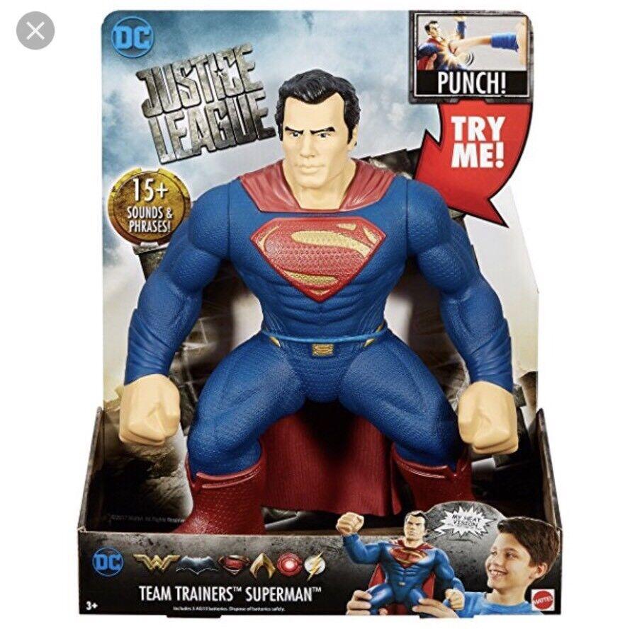 DC Justice League Team Trainers Superman Figure, 14    86f2d3