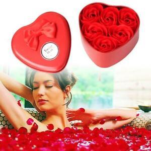 Sapone ROMANTICA Fiore ORSO CUORE TIN BOX Rose Fiori VALENTINE Giorno Regalo x 1box