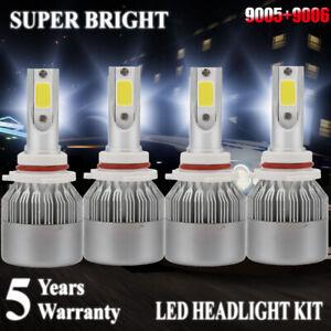 9006+9005 LED Headlight 4200W 630000LM Hi-Lo Beam Combo Kit 6000K HID Lamp C6