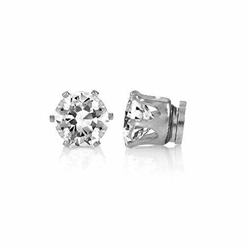1cf24968dd4 Mytoptrendz 1 Pair Boys 6mm Round Crystal Stone Magnetic Stud Earring (no  ... for sale online