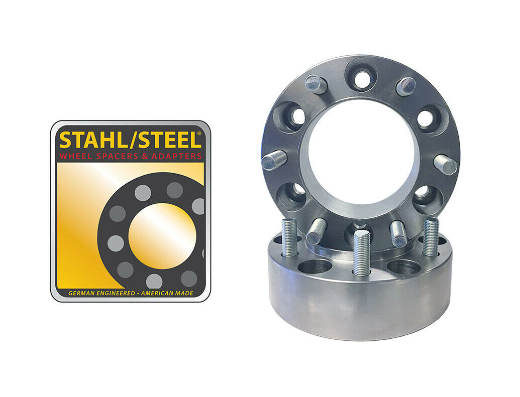 """Chevy Silverado 1500 1.50/"""" Steel Wheel Spacers USA Made by Stahl Steel 2"""