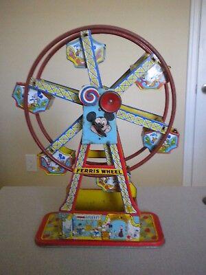 Disney 1950s Disneyland Ferris Wheel Tin Wind Up Toy Works Ebay