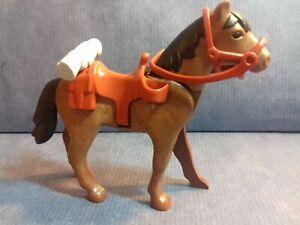 PLAYMOBIL WESTERN 2 licols marron foncé pour chevaux 2è génération