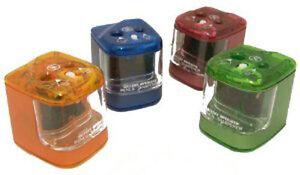 Jakar-Double-Hole-Electric-Battery-Pencil-Sharpener-Random-Colour