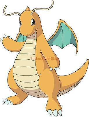 DRAGONITE Pokemon Decal Removable WALL STICKER Home Decor Art Kids Bedroom Mural