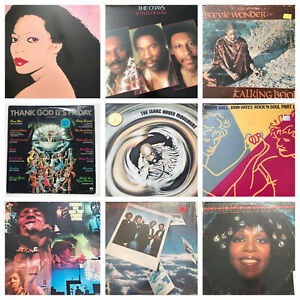 Lot-of-10-Soul-Funk-LP-Vinyl-Record-Collection-70s-to-80s-Disco-Stevie-Wonder