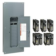 Square D 150 Amp 30 Space 60 Circuit Indoor Main Breaker Panel Box Load Center