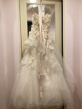MONIQUE LHUILLIER PLATINUM COLLECTION HYACINTH COUTURE BRIDAL GOWN $12.8k