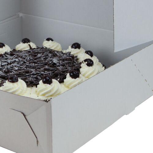 TortenkartonTortenschachtelKuchenkartonweiß340×340×110cm 5 St