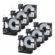 6pk For Dymo Rhino 42005200 Heat Shrink Tube 18051 Industry Label Tape 14x5