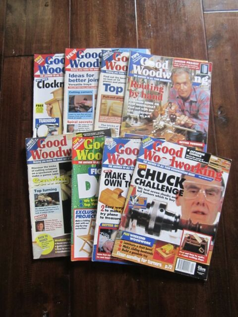 Good Woodworking x 8 magazines issue no.s 1, 4, 6, 25, 28, 30, 33, 37