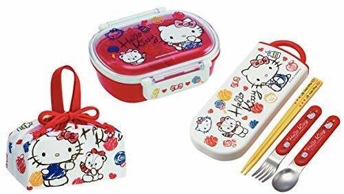 Hello Kitty Sketch Sanrio Lunch Box Chopsticks Spoon Fork Lunch Bag  Trio Set
