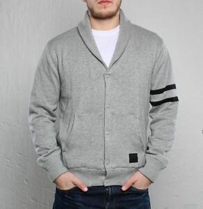 7ac86a812133 NIKE NSW VARSITY CARDIGAN SWEATER MEN S XS NEW DARK GREY HEATHER ...