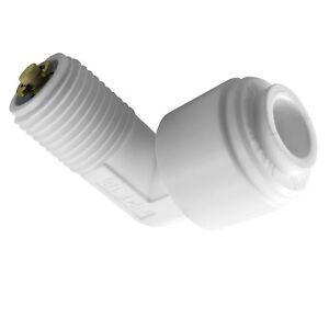 "1 elbow QC check valve for Reverse Osmosis RO,1//4/"" tube x 1//8/"" thread"