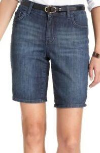 BNWOT TOMMY HILFIGER women's mid rise blue denim bermuda shorts sz US4