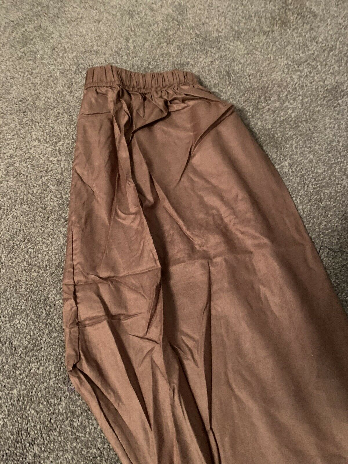 READYMADE TROUSERS SALWAR WOMENS ONE SIZE BROWN PARTY CASUAL WEAR NEW PLAIN