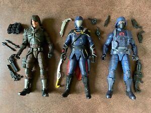 G.I. joe classified Cobra Commander Infantry trooper Major Bludd lot 6 inch