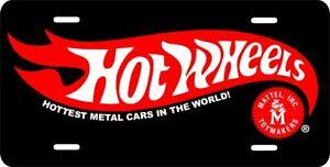 HOT-WHEELS-Auto-Car-Tag-License-Plate-Aluminum