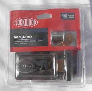 NEW-Lockwood-201-Nightlatch-With-Cylinder-Includes-2-Keys-201CPDP-Deadbolt