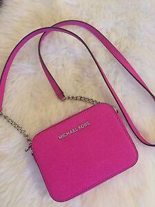 michael kors kleine handtasche pink umh ngetasche ebay. Black Bedroom Furniture Sets. Home Design Ideas