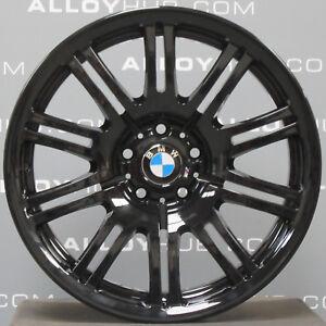 Detalles De Genuine Bmw M3 E46 67m Negro Brillante 19 Pulgada 10 Doble Hablo Llantas De Aleacion X4 Ver Titulo Original