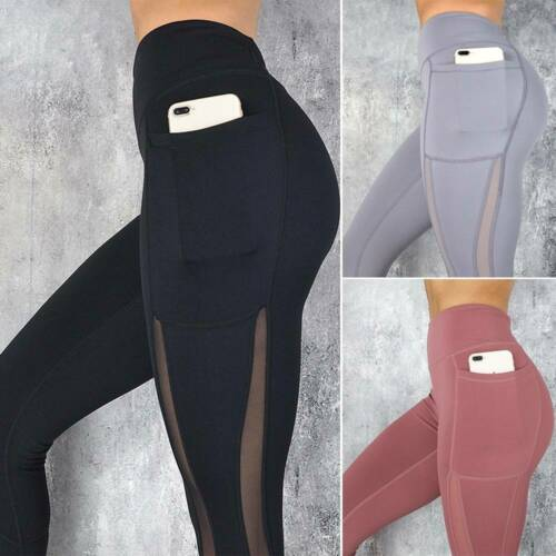 Womens Push Up High Waist Yoga Pants Sport Leggings Gym Running Athletic Trouser