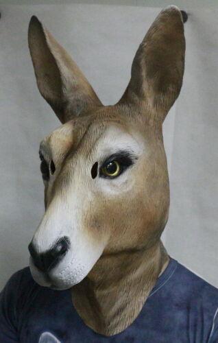 Kangaroo Wallaby Latex Mask Koala Australia Animal Mask Fancy Party Costume