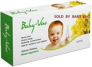 BABY VAC NASAL ASPIRATOR Medically recommended for Newborn Toddler Children Kids