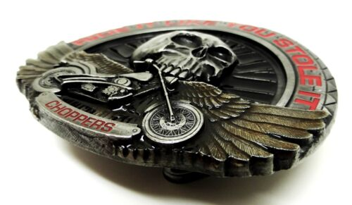 Biker Belt Buckle Wheel Skull /& Chopper Motorcycle Bike Authentic Dragon Designs