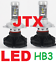 9005-HB3-JTX-LED-Hi-Beam-Headlight-Globes-Bulbs-12v-24v-6000-Lumen-50w thumbnail 1