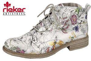 Damen 90 Neu Rieker Stiefelette Sommer Bunt Blumen Details Zu Floral Boots Weiß L2130 0OP8nkwX